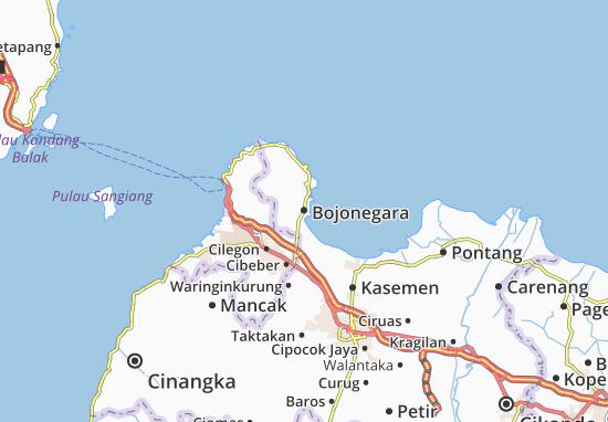 Bojonegara Map