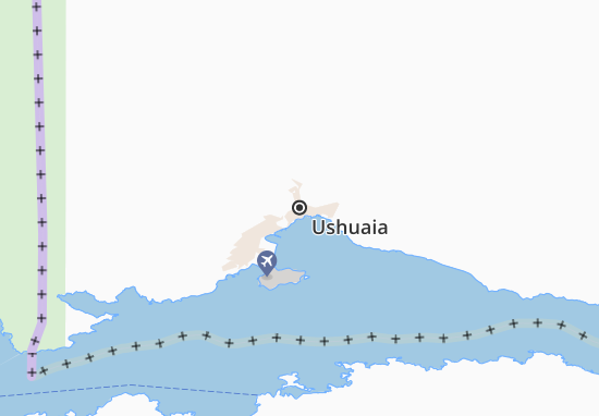 Map of Ushuaia - Michelin Ushuaia map - ViaMichelin