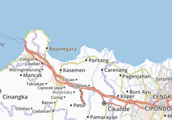 Pontang Map