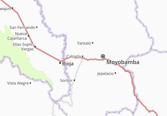 Kaart Plattegrond Calzada