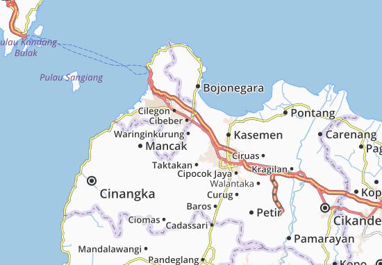 Waringinkurung Map