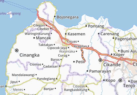 Cipocok Jaya Map