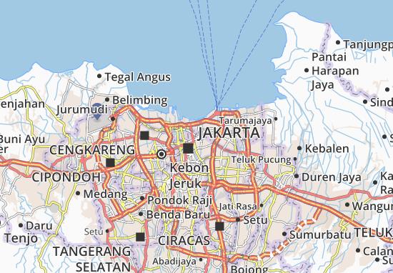 Sawah Besar Map