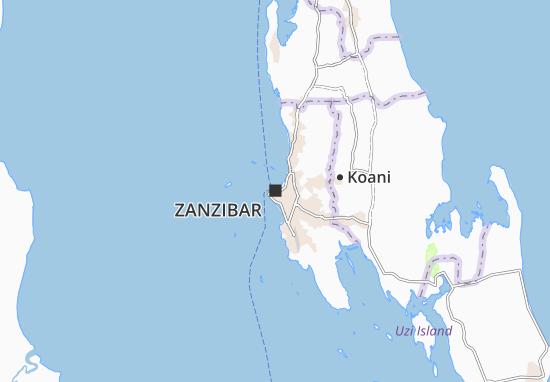 Mapa Plano Zanzibar