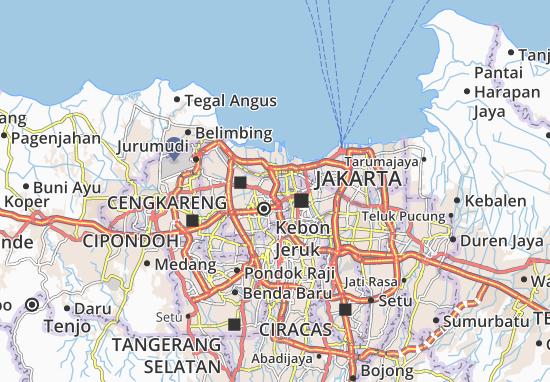 Mapa Grogol Petamburan