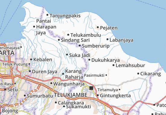 Pebayuran Map