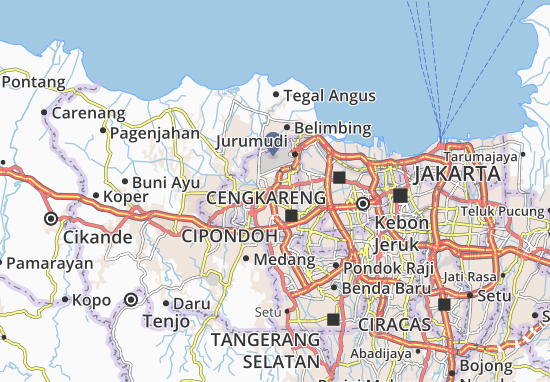 Tangerang - Kodya Map