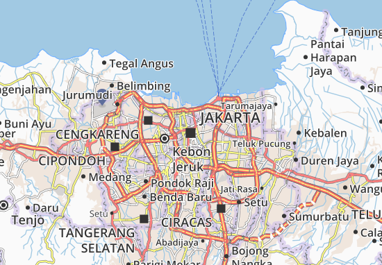 Jakarta Map: Detailed maps for the city of Jakarta - ViaMichelin