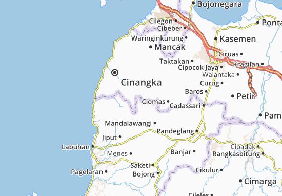 Padarincang Map