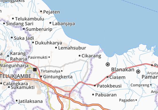 Kaart Plattegrond Cikarang