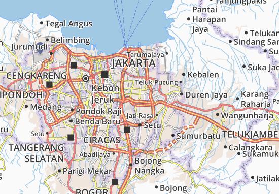 Duren Sawit Map