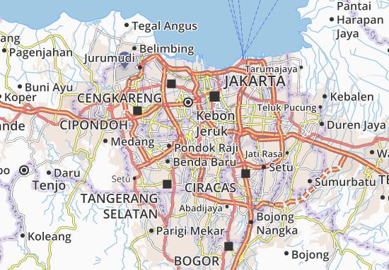 Kebayoran Lama Map