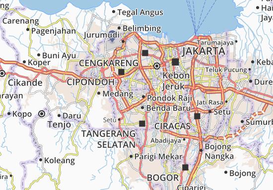Carte-Plan Pondok Aren