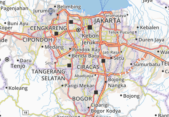 Carte-Plan Pondok Labu