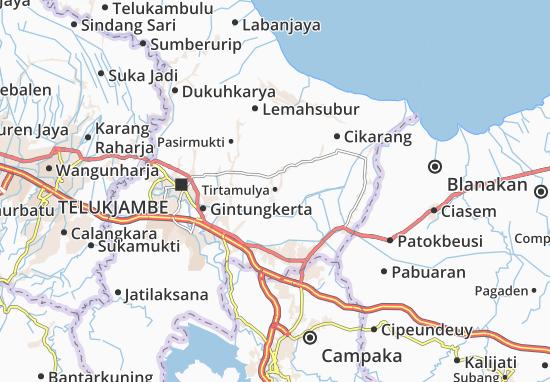 Kaart Plattegrond Tirtamulya