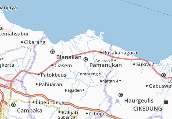 Mapa Pamanukan