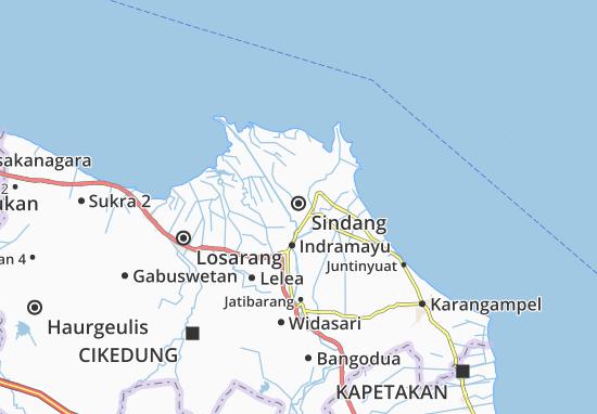 Kaart Plattegrond Sindang