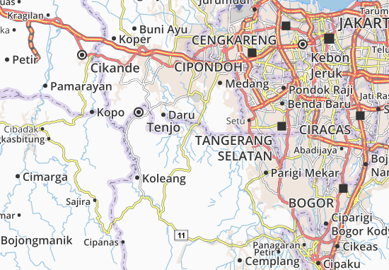 Parungpanjang Map