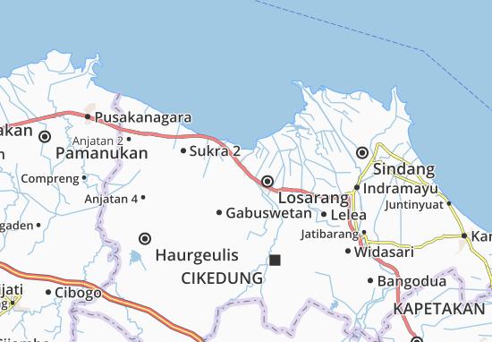 Kandanghaur Map