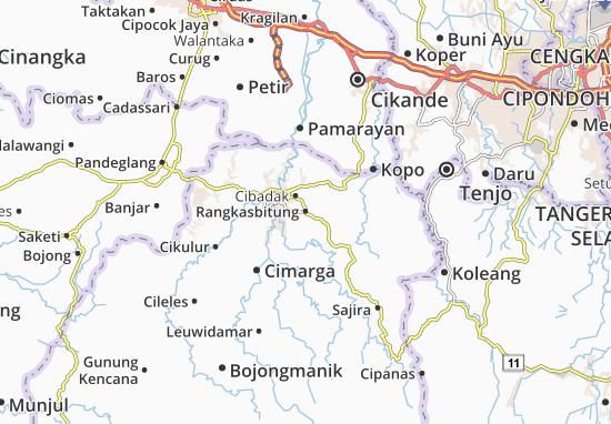 Rangkasbitung Map