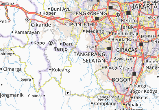 Cikupa Map