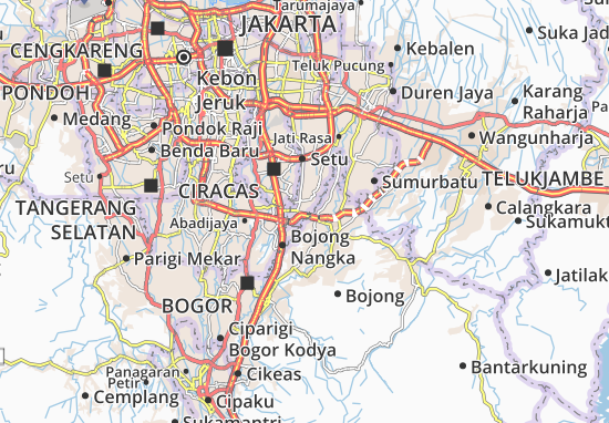 Gunung Putri Map