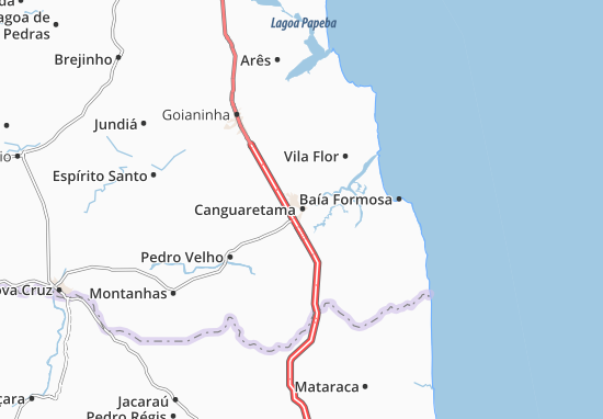 Canguaretama Map