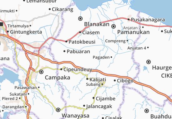 Kaart Plattegrond Purwadadi