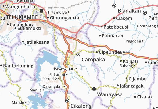 Mapa Campaka