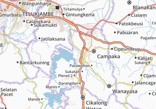 Kaart Plattegrond Jatiluhur