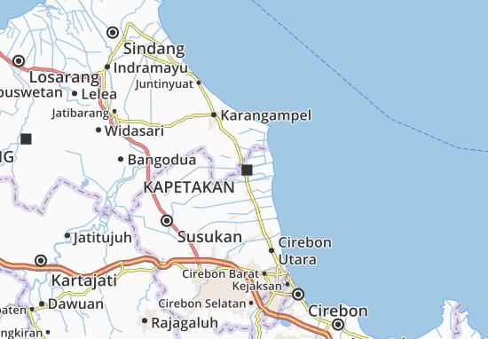 Kaart Plattegrond Kapetakan