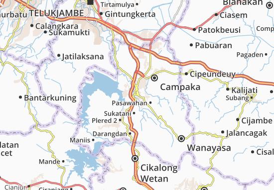 Kaart Plattegrond Purwakarta