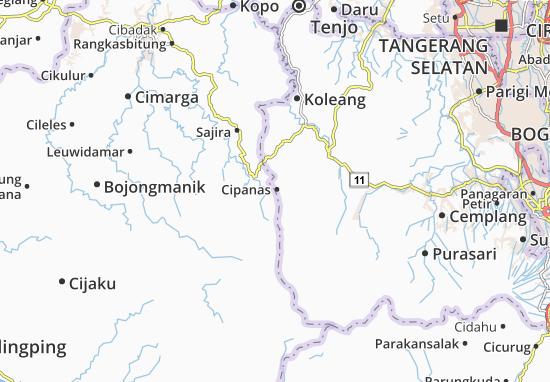 Cipanas Map