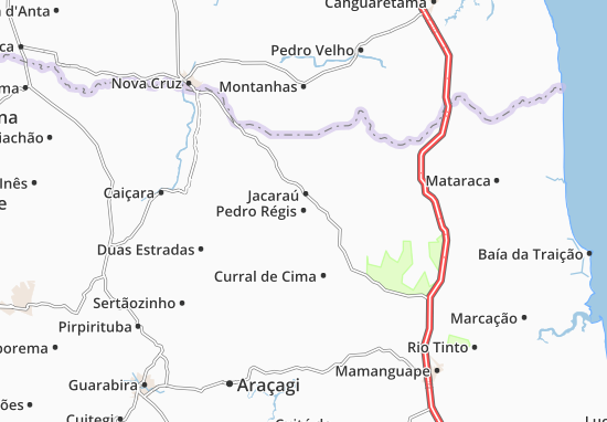 Carte-Plan Pedro Régis