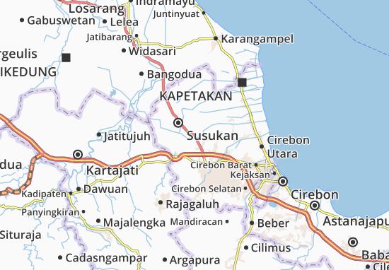 Arjawinangun Map