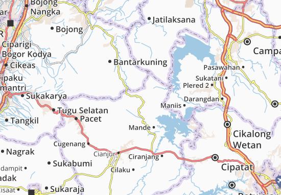 Cikalong Kulon Map