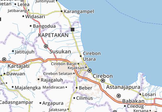 Carte-Plan Cirebon Utara