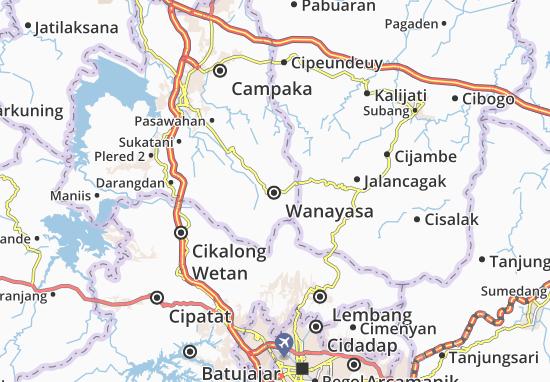 Mapa Wanayasa