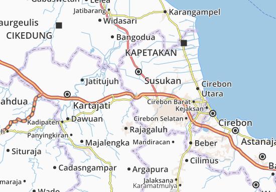 Ciwaringin Map