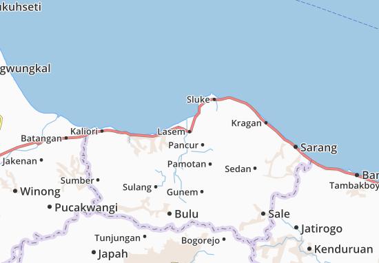 Lasem Map
