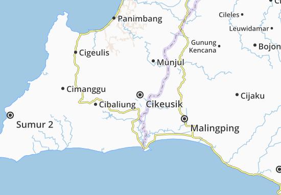 Cikeusik Map