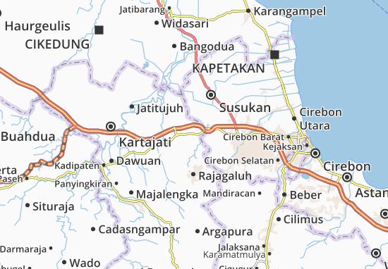 Sumber Jaya Map