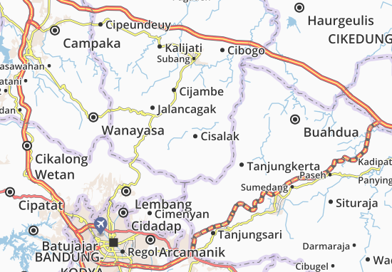Cisalak Map