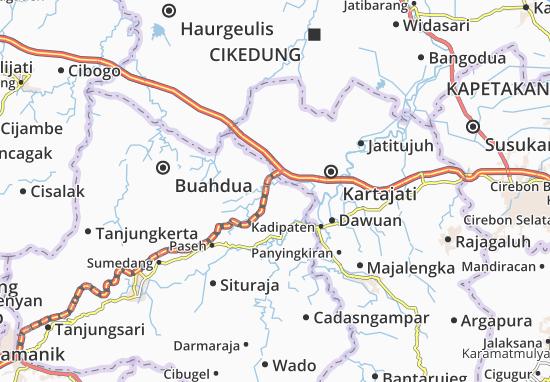 Ujungjaya Map