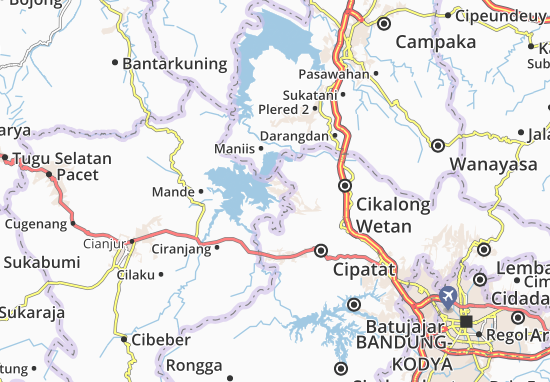Cipeundeuy Saguling Map
