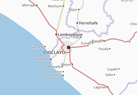 Kaart Plattegrond Chiclayo