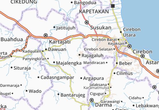 Rajagaluh Map