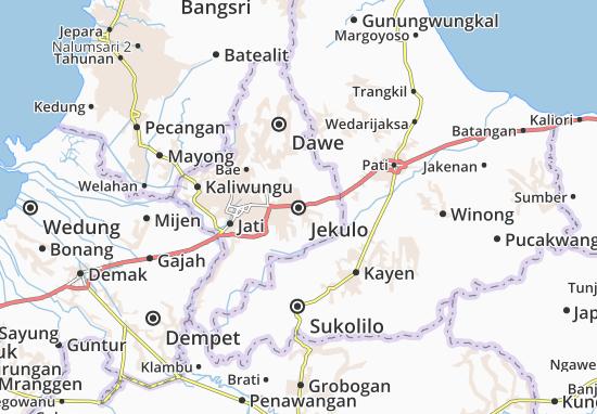 Kaart Plattegrond Jekulo