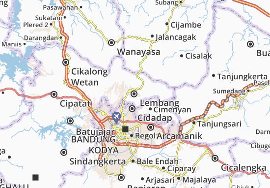 Kaart Plattegrond Lembang