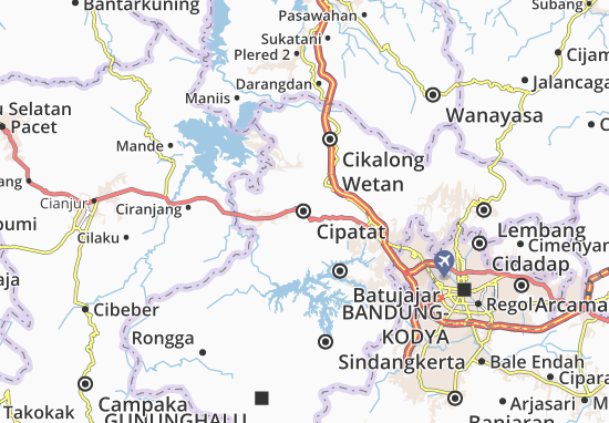 Cipatat Map